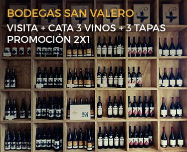 Bodegas San Valero Promoción 2x1 en visitas